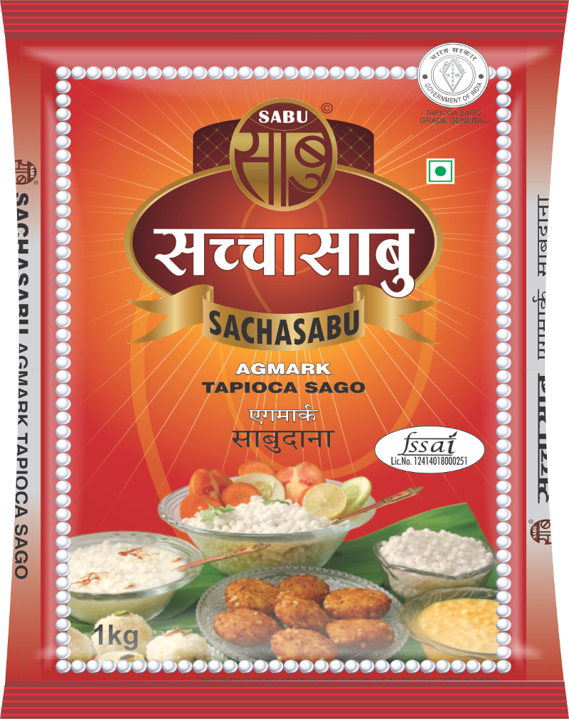 Sachasabu Sabudana packet frontside